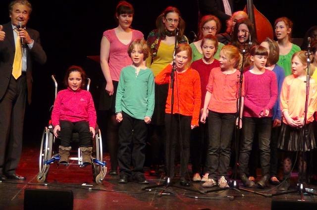 Bruxelles, 27 mars 2013, concert au Cirque Royal avec la Chorale des enfants de l'école Européenne.