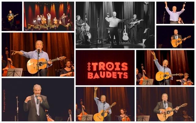 Paris, le Concert intime de Pierre Perret sur le lieu de ses début : Le Théâtre des Trois Baudets, le 16 juin 2014.