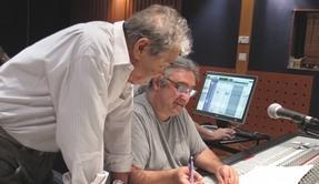 Coulisses d'un enregistrement studio