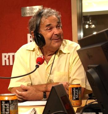 Pierre Perret au micro de RTL