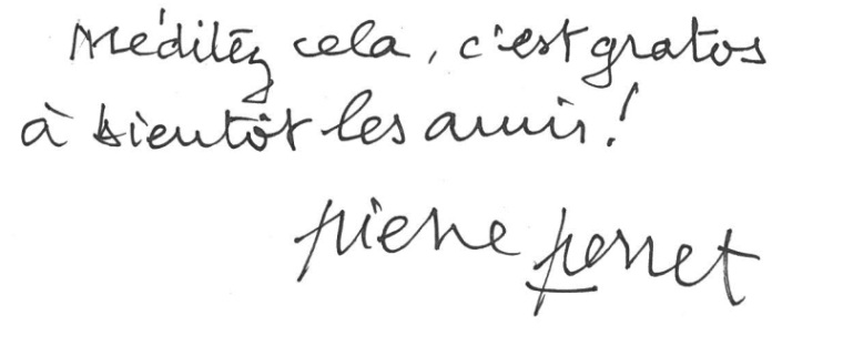 Signature de Pierre Perret