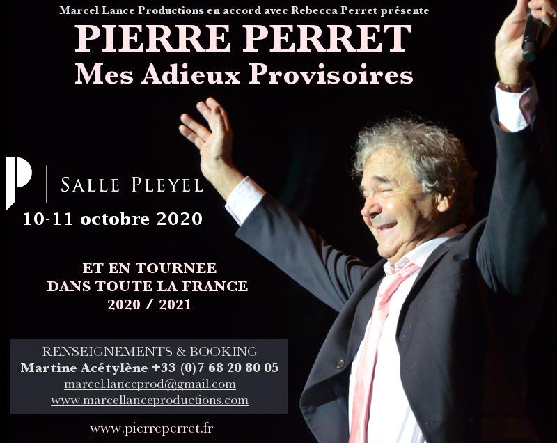Pierre Perret annonce ses adieux provisoires bras levés